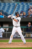 Syracuse Chiefs third baseman Jason Martinson (5) at bat during a game against the Louisville Bats on June 6, 2016 at NBT Bank Stadium in Syracuse, New York.  Syracuse defeated Louisville 3-1.  (Mike Janes/Four Seam Images)