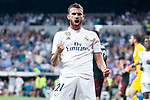 Real Madrid Borja Mayoral celebrating a goal during Santiago Bernabeu Trophy match at Santiago Bernabeu Stadium in Madrid, Spain. August 11, 2018. (ALTERPHOTOS/Borja B.Hojas)