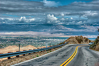Palm Desert,CA, Overlook, State Route 74 (SR 74), Pines to Palms, Scenic Byway, scenic highway, Mountains, U.S. Panorama High dynamic range imaging (HDRI or HDR)
