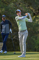 Dylan Frittelli (RSA) watches his tee shot on 12 during Round 1 of the Valero Texas Open, AT&amp;T Oaks Course, TPC San Antonio, San Antonio, Texas, USA. 4/19/2018.<br /> Picture: Golffile | Ken Murray<br /> <br /> <br /> All photo usage must carry mandatory copyright credit (&copy; Golffile | Ken Murray)