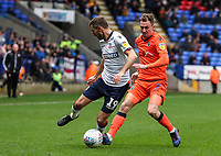 Bolton Wanderers' Gary O'Neil competing with Millwall's Jed Wallace <br /> <br /> Photographer Andrew Kearns/CameraSport<br /> <br /> The EFL Sky Bet Championship - Bolton Wanderers v Millwall - Saturday 9th March 2019 - University of Bolton Stadium - Bolton <br /> <br /> World Copyright © 2019 CameraSport. All rights reserved. 43 Linden Ave. Countesthorpe. Leicester. England. LE8 5PG - Tel: +44 (0) 116 277 4147 - admin@camerasport.com - www.camerasport.com