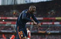 Valencia's Mouctar Diakhaby celebrates scoring his side's first goal<br /> <br /> Photographer Rob Newell/CameraSport<br /> <br /> UEFA Europa League Semi-final 1st Leg - Arsenal v Valencia - Thursday 2nd May 2019 - The Emirates - London<br />  <br /> World Copyright © 2018 CameraSport. All rights reserved. 43 Linden Ave. Countesthorpe. Leicester. England. LE8 5PG - Tel: +44 (0) 116 277 4147 - admin@camerasport.com - www.camerasport.com