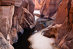 Chad (Tchad), North Africa, Sahara, Ennedi, deep canyon filled with water