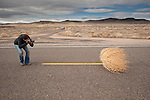 The Big Empty--Vasna Wilson photographs and chases tumbleweed bush along the U.S. 95 in Nevada's Forty Mile Desert