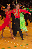 John Giannini and Katherine Giannini from Great Britain perform their dance during the Under 21 latin-american competition of the International Championships held in Brentwood International Centre, Brentwood, United Kingdom. Tuesday, 19. October 2010. ATTILA VOLGYI