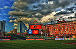 10 August 2012:  A 9 image HDR image at Camden Yards in Baltimore, MD. where the Baltimore Orioles defeated the Kansas City Royals, 7-1.