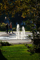 Fountain in the park, Hungary Kecskemét