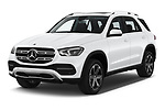 2020 Mercedes Benz GLE 350-d-4MATIC 5 Door SUV Angular Front automotive stock photos of front three quarter view