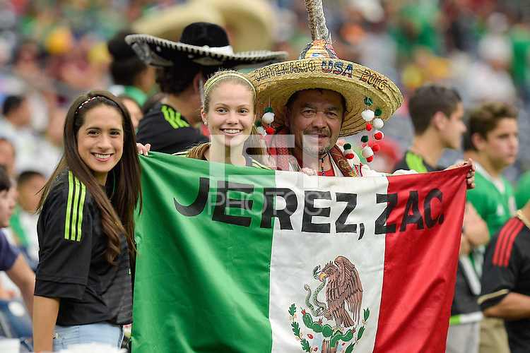 Houston, TX - Monday June 13, 2016: Fans during a Copa America Centenario Group C match between Mexico (MEX) and Venezuela (VEN) at NRG Stadium.