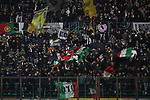 Juventus fans at the stadium wave flags during the Coppa Italia match at Giuseppe Meazza, Milan. Picture date: 13th February 2020. Picture credit should read: Jonathan Moscrop/Sportimage