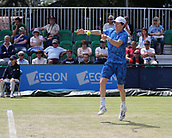 June 16th 2017, Nottingham, England; ATP Aegon Nottingham Open Tennis Tournament day 5;  John-Patrick Smith of Australia who lost his quarter final to Sam Groth of Australia in two sets