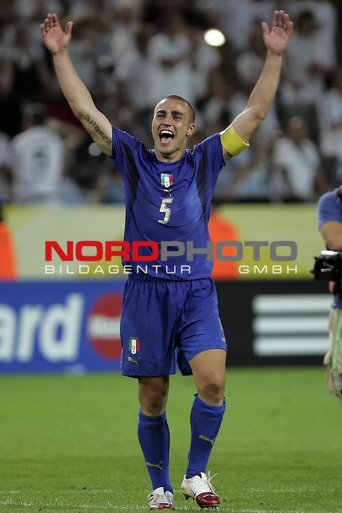 FIFA WM 2006 -  Semi Finals / Halbfinale<br /> Play    #61 (04-Juli) - Deutschland - Italien<br /> <br /> Jubel CANNAVARO<br /> Foto &copy; nordphoto