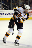 February 17th 2007:  Zdeno Chara (33) of the Boston Bruins passes vs. the Buffalo Sabres at HSBC Arena in Buffalo, NY.  The Bruins defeated the Sabres 4-3 in a shootout.