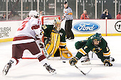 Conor Sheary (UMass - 13), Rob Madore (Vermont - 29), Drew MacKenzie (Vermont - 2) - The University of Massachusetts (Amherst) Minutemen defeated the University of Vermont Catamounts 3-2 in overtime on Saturday, January 7, 2012, at Fenway Park in Boston, Massachusetts.