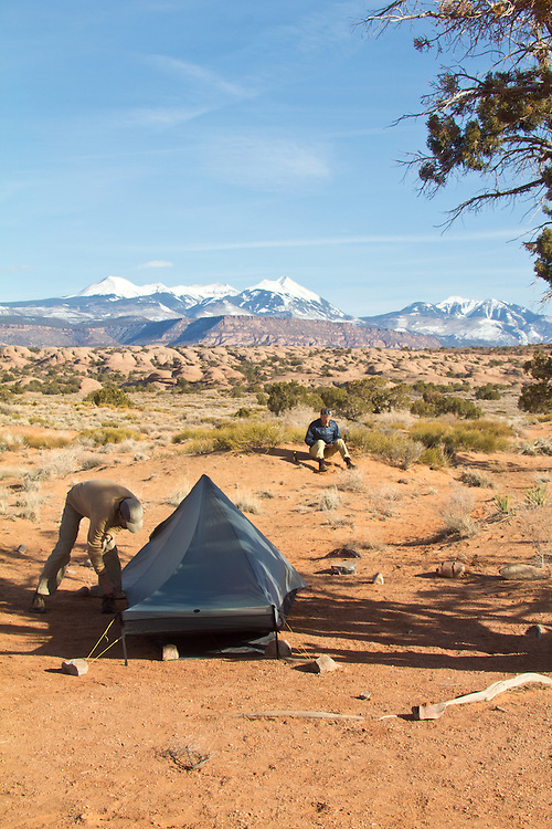 Moab, Utah, camping, Sand Flats Recreation Area, SFRA, public lands, Colorado Plateau, La Sal Mountains, car camping, hiking, Gary Parker, Scott McCredie,