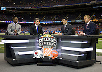 ESPN before Florida vs Louisville during 79th Sugar Bowl game at Mercedes-Benz Superdome in New Orleans, Louisiana on January 2nd, 2013.