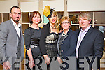 Pictured at the Hats and Heels fundraiser event on Saturday night in Ballygarry House Hotel & Spa, Tralee, were l-r: Pa Kelly (Ardfert) Esther McCarthy (Ballymac) Toireasa Ferris (Ardfert) Eileen Falvey (Ballymac) and Brendan Falvey (Ballymac).