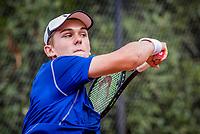 Hilversum, Netherlands, August 8, 2018, National Junior Championships, NJK, Stijn Pel (NED)<br /> Photo: Tennisimages/Henk Koster