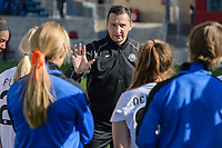 Bridgeview, IL - Saturday April 22, 2017: Vlatko Andonovski after a regular season National Women's Soccer League (NWSL) match between the Chicago Red Stars and FC Kansas City at Toyota Park.