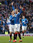 Stevie Smith celebrates his goal with Ian Black
