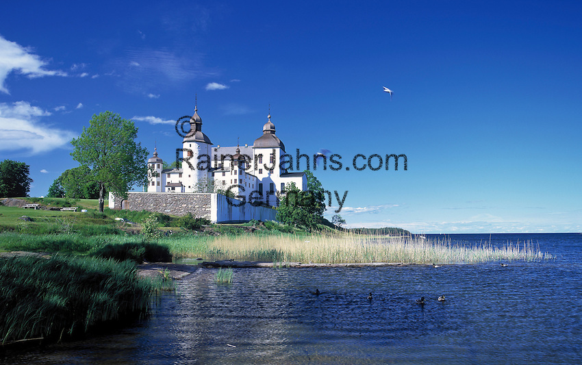 Sweden, Vaestergoetland, baroque castle Laeckoe on island Kallandsoe at Lake Vaenern | Schweden, Vaestergoetland, Barockschloss Laeckoe auf der Insel Kallandsoe im Vaenern-See