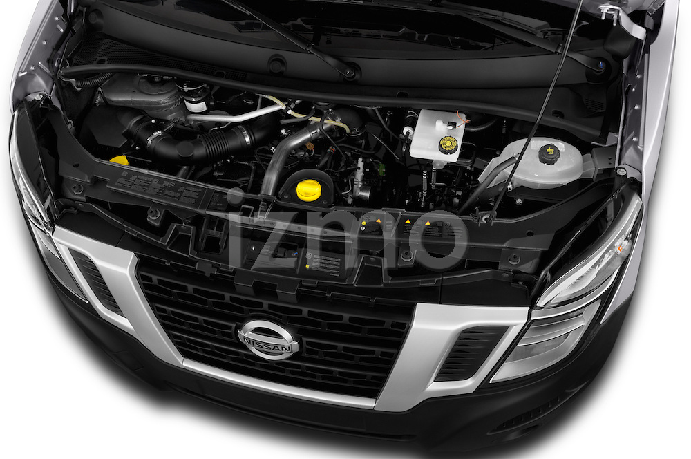 Car Stock 2016 Nissan NV400-Combi l1h1-Optima 5 Door Passenger Van Engine  high angle detail view