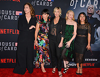 "LOS ANGELES, CA. October 22, 2018: Diane Lane, Constance Zimmer, Robin Wright, Patricia Clarkson & Nini Le Huynh at the season 6 premiere for ""House of Cards"" at the Directors Guild Theatre.<br /> Picture: Paul Smith/Featureflash"
