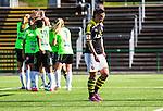 V&auml;llingby 2015-05-09 Fotboll Damallsvenskan AIK - Kristianstads DFF  :  <br /> AIK:s Maija Saari deppar efter att Kristianstads Margret Lara Vidarsdottir gjort 4-0 under matchen mellan AIK och Kristianstads DFF  <br /> (Foto: Kenta J&ouml;nsson) Nyckelord:  Fotboll Dam Damer Damallsvenskan AIK Gnaget Kristianstad Grimsta depp besviken besvikelse sorg ledsen deppig nedst&auml;md uppgiven sad disappointment disappointed dejected