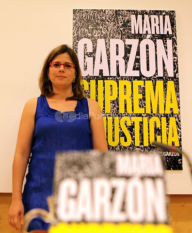 Maria Garzon, daughter of Judge Baltasar Garzon, has launched her book about the unjust condemnation of her father.  Madrid, Spain. June 12, 2012. © PhotoADF/NortePhoto/MediaPunch Inc. ***FOR USA ONLY***