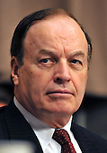 """Washington, D.C. - September 23, 2008 -- United States Senator Richard Shelby (Republican of Alabama), Ranking Member, United States Senate Committee on Banking, Housing and Urban Affairs, listens to the testimony of the witnesses during the hearing on """"Turmoil in US Credit Markets: Recent Actions Regarding Government Sponsored Entities, Investment Banks and Other Financial Institutions"""" in Washington, D.C. on Tuesday, September 23, 2008.  The hearing focused on the United States Government's proposed 700 billion U.S. dollar bail-out of the banking system caused by poor lending practices of U.S. banks.<br /> Credit: Ron Sachs / CNP"""