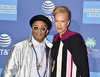 PALM SPRINGS, CA - JANUARY 03: Spike Lee (L) and Tonya Lewis Lee attend the 30th Annual Palm Springs International Film Festival Film Awards Gala at Palm Springs Convention Center on January 3, 2019 in Palm Springs, California.<br /> CAP/ROT/TM<br /> &copy;TM/ROT/Capital Pictures