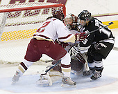 Becky Zavisza (Boston College - 2), Molly Schaus (Boston College - 30), Kate Bacon (Providence - 15) - The Providence College Friars and Boston College Eagles tied at 1 on BC's senior night on Saturday, February 21, 2009, at Conte Forum in Chestnut Hill, Massachusetts.