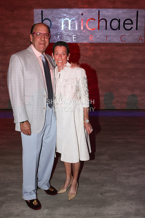 John and Henni Kessler attends the b michael AMERICA Couture Spring 2015 fashion show during Mercedes-Benz Fashion Week Spring 2015 in New York City.