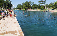 "Each summer thousands of locals and tourist swim in the constant 68-degree waters of Barton Springs Pool, a spring-fed swimming hole in Zilker Park. Daily, 5am-10pm. Voted the ""Best Swimming Hole in Texas."" Closed Thursdays, 9am- 7pm."