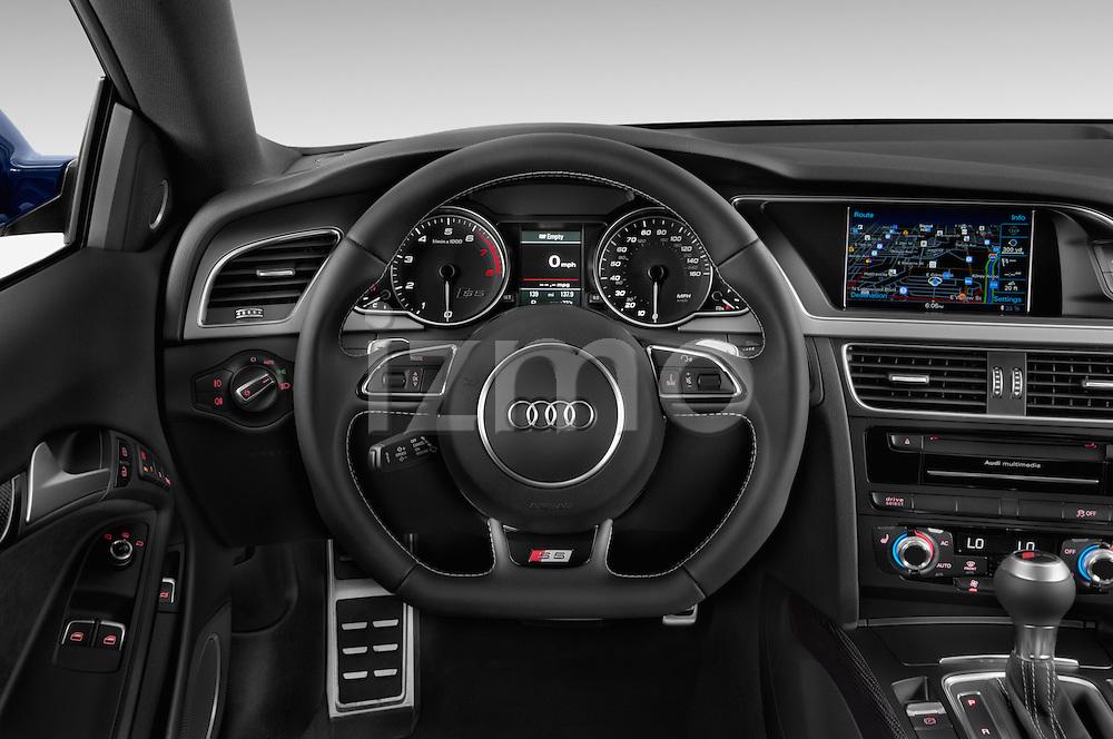 Car pictures of steering wheel view of a 2015 Audi S5 4.2 quattro Tiptronic Premium Plus Coupe 2 Door Coupe Steering Wheel