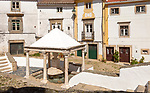 Historic public water supply from fountain in old Jewish area, the Judiara, Castelo de Vide, Alto Alentejo, Portugal, southern Europe