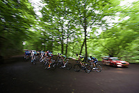 the bunch up the climb towards the Barrage de la Gileppe <br /> <br /> stage 4: Hotel Verviers - La Gileppe (187km)<br /> 29th Ster ZLM Tour 2015