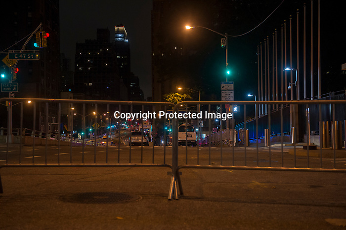 Shots from out side of United Nations at 4am Sep 18 2017