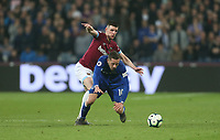West Ham United's Declan Rice and Everton's Gylfi Sigurdsson<br /> <br /> Photographer Rob Newell/CameraSport<br /> <br /> The Premier League - West Ham United v Everton - Saturday 30th March 2019 - London Stadium - London<br /> <br /> World Copyright © 2019 CameraSport. All rights reserved. 43 Linden Ave. Countesthorpe. Leicester. England. LE8 5PG - Tel: +44 (0) 116 277 4147 - admin@camerasport.com - www.camerasport.com