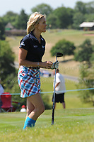 Jenni Falconer of Team Scotland during the Bulmers 2018 Celebrity Cup at the Celtic Manor Resort. Newport, Gwent,  Wales, on Saturday 30th June 2018<br /> <br /> <br /> Jeff Thomas Photography -  www.jaypics.photoshelter.com - <br /> e-mail swansea1001@hotmail.co.uk -<br /> Mob: 07837 386244 -