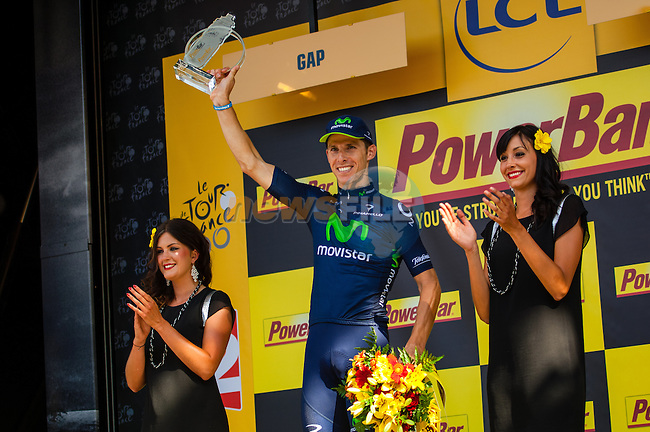 Alberto Costa (POR) Team Movistar wins Stage 16 of the 100th Edition of the 2013 Tour de France from Vaison-la-Romaine to Gap. 16th July 2013.<br /> (Photo:David Chiu/www.newsfile.ie)