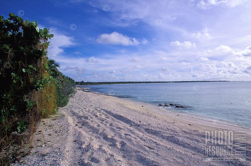 Beautiful beach scene on the bikini atoll, Marshall Islands