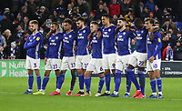 4th February 2020; Cardiff City Stadium, Cardiff, Glamorgan, Wales; English FA Cup Football, Cardiff City versus Reading; Cardiff City players group before the penalties