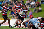 Mark Selwyn makes a break around the side of a ruck during the ITM Cup rugby game between Counties Manukau Steelers and Northland, played at Bayer Growers Stadium, Pukekohe, on Sunday September 26th 2010..The Counties Manukau Steelers won 40 - 24 after leading 27 - 7 at halftime.