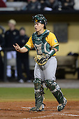Siena Saints catcher Dan Vasquez (19) during the season opening game against the Central Florida Knights at Jay Bergman Field on February 14, 2014 in Orlando, Florida.  UCF defeated Siena 8-1.  (Copyright Mike Janes Photography)