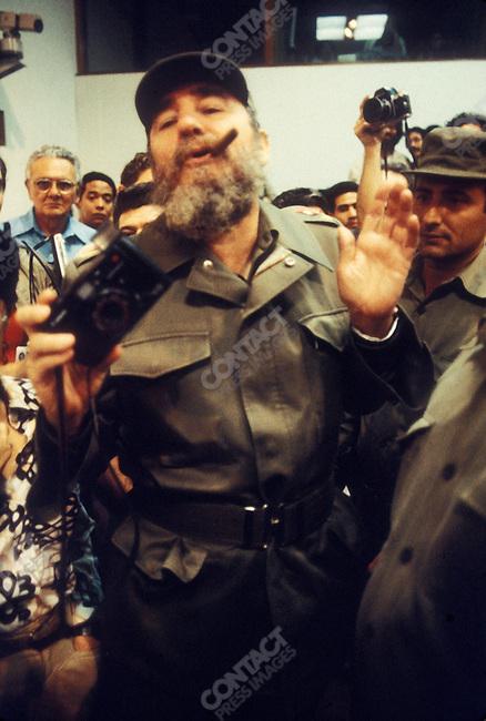 Fidel Castro, President of Cuba. Havana, Cuba, November 1984<br />