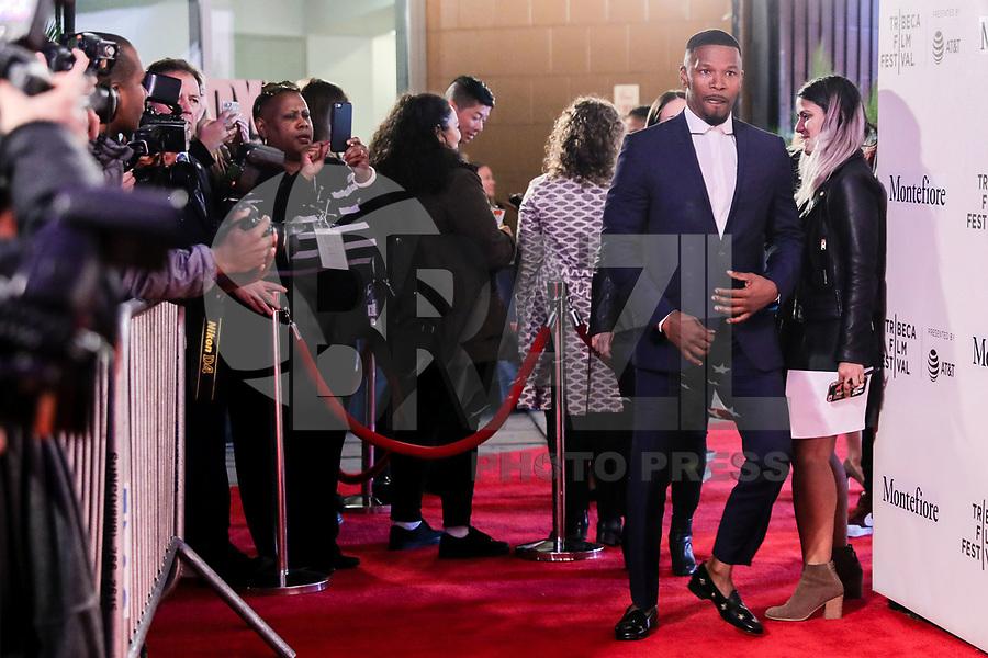 NOVA YORK, EUA, 23.04.2018 - TRIBECA-FESTIVAL - Ator Jamie Foxx durante o Festival de Cinema de Tribeca de 2018 - Tribeca Talks: Storytellers - no BMCC Tribeca PAC em Nova York nesta segunda-feira, 23. (Foto: William Volcov/Brazil Photo Press)