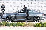 Karim Benzema of Real Madrid CF poses for a photograph after being presented with a new Audi car as part of an ongoing sponsorship deal with Real Madrid at their Ciudad Deportivo training grounds in Madrid, Spain. November 23, 2017. (ALTERPHOTOS/Borja B.Hojas)