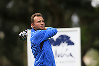 Maximilian Kieffer (GER) tees off the 9th tee during Friday's storm delayed Round 2 of the Andalucia Valderrama Masters 2018 hosted by the Sergio Foundation, held at Real Golf de Valderrama, Sotogrande, San Roque, Spain. 19th October 2018.<br /> Picture: Eoin Clarke | Golffile<br /> <br /> <br /> All photos usage must carry mandatory copyright credit (&copy; Golffile | Eoin Clarke)