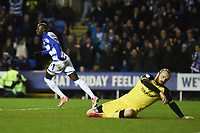 Modou Barrow of Reading celebrates scoring their first goal during the Sky Bet Championship match between Reading and Burton Albion at the Madejski Stadium, Reading, England on 23 December 2017. Photo by Paul Paxford.